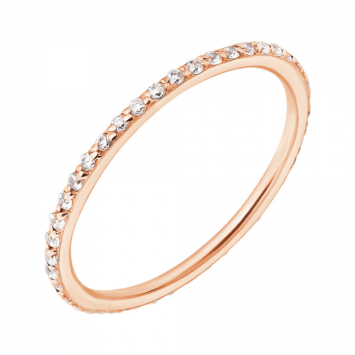Кольцо в красном золоте Аюна с фианитами 000004598