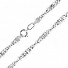 Серебряная цепочка Анис в плетении сингапур, 2мм
