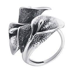 Серебряное кольцо с чернением 000080056