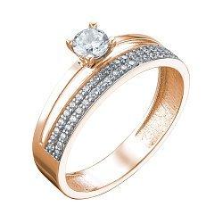 Кольцо из красного золота с фианитами 000080329