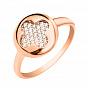 Кольцо из красного золота с фианитами 000103719