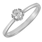 Кольцо из белого золота Цветок любви с бриллиантом