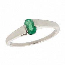 Серебряное кольцо с изумрудом Файна