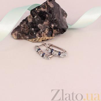Серебряные серьги Наяда с топазами TNG--441021С