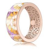 Обручальное кольцо из розового золота Талисман: Счастья
