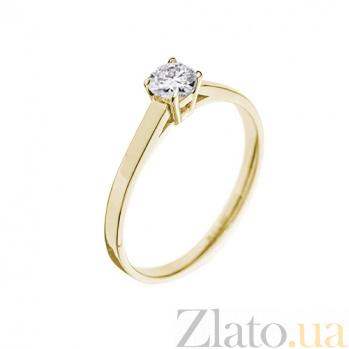 Кольцо в желтом золоте Единственная с бриллиантом 000079323