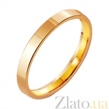Золотое обручальное кольцо Классическая американка TRF--411813