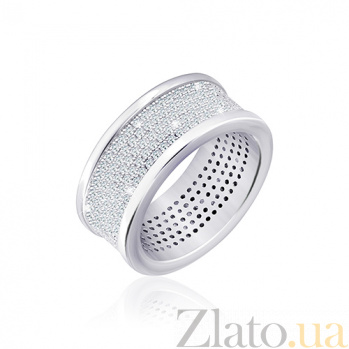 Серебряное кольцо Аморита с фианитами 000030923