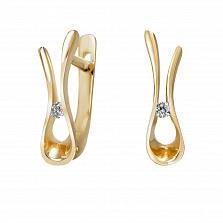 Серьги из желтого золота Гвен с бриллиантами
