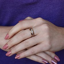 Золотое кольцо Гаррета в красном цвете с бриллиантами