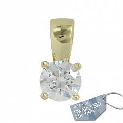 Подвес из желтого золота с кристаллом Swarovski Салли