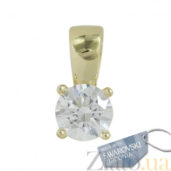 Подвес из желтого золота с кристаллом Swarovski Салли 2П171-0131