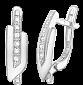 Серьги из серебра с фианитами Киара SLX--С2Ф/051