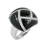 Золотое кольцо с ониксом и бриллиантами Любовные чары