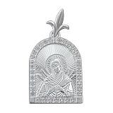Серебряная ладанка с алмазными гранями Божья Матерь Семистрельная