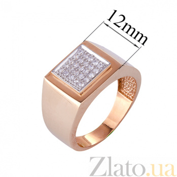 Золотое кольцо с усыпкой из фианитов Коулин ONX--к02239
