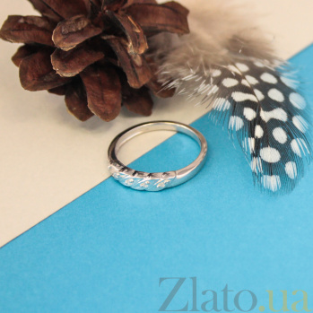 Серебряное кольцо с бриллиантами Эйша 000022211