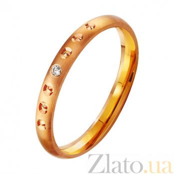 Золотое обручальное кольцо с фианитом Нимфа TRF--412903