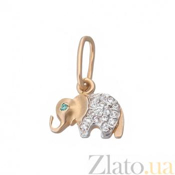 Золотая подвеска Индийский слон LEL--62343