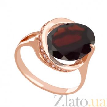 Золотое кольцо с гранатом и фианитами Илэрия VLN--112-1297-3
