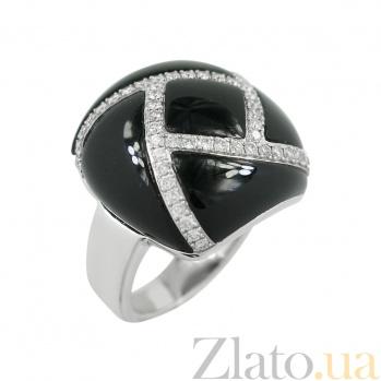 Золотое кольцо с ониксом и бриллиантами Любовные чары 000026939