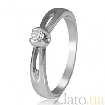 Кольцо из белого золота с бриллиантом Сияние EDM--КД7481/1