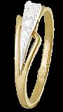 Позолоченное серебряное кольцо с фианитами Ребекка