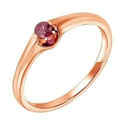 Кольцо из красного золота с рубином 000122995
