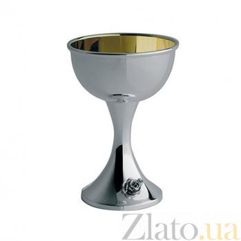 Серебряная рюмка для ликёра Роза с внутренней позолотой ZMX--2708_1261