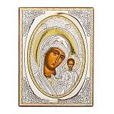 Икона с серебром Казанская Божья Матерь