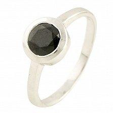 Серебряное кольцо Эрма с сапфиром