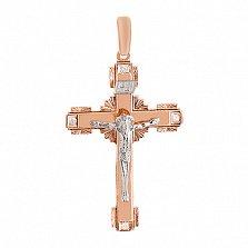 Золотой крест с фианитами Добрая душа