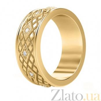 Обручальное кольцо из желтого золота с бриллиантами Благословение небес: Сияние души 704