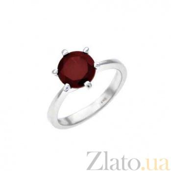 Утонченное кольцо серебряное с гранатом AQA--R00220G