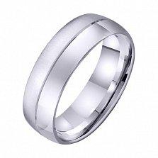Обручальное кольцо из белого золота Искренние чувства