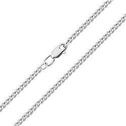 Серебряная цепочка родированная, 2мм 000118303