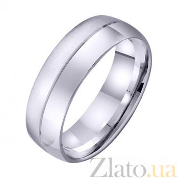 Обручальное кольцо из белого золота Искренние чувства TRF--4211009
