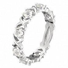 Кольцо в белом золоте Венеция с бриллиантами