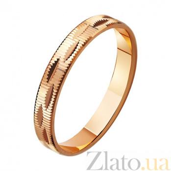 Золотое обручальное кольцо Яркое чувство TRF--411010