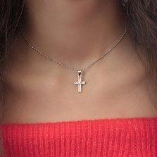 Серебряный крестик Астар с цирконием
