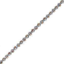 Золотая цепь Baraka Роттердам в комбинированном цвете с бриллиантом