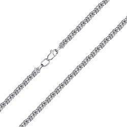 Серебряная цепь в византийском плетении 000135605