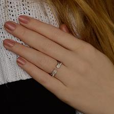 Серебряное разомкнутое кольцо Крылья вдохновения