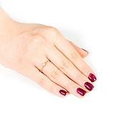 Золотое кольцо с кристаллом Swarovski Верность
