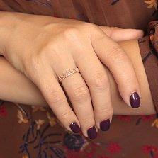 Золотое кольцо-корона Сердце королевы с ажурной шинкой