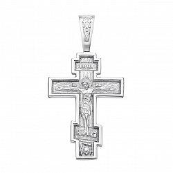 Серебряный православный крестик 000123294