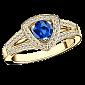 Сапфировое кольцо в лимонном золоте с микро-паве Dream n Love R-BDL-E-sap-diam