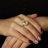 Золотое кольцо Магия солнца с цитрином и бриллиантами