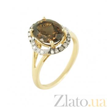 Золотое кольцо с раухтопазом и бриллиантами Флорентина 1К034-1286