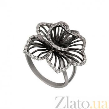 Золотое кольцо Фуксия с цирконием VLT--ТТ1121